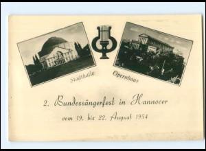 Y16917/ Hannover Bundessängerfest 1954 Foto AK