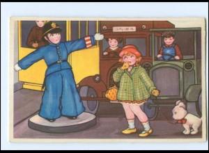 Y17043/ Junge als Verkehrspolizist Kinder schöne AK ca.1935