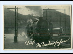 Y17045/ Auf Wiedersehen! Eisenbahn Lokomotive AK 1938