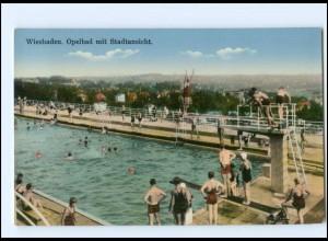 V470/ Wiesbaden Opelbad Badeanstalt AK 1938