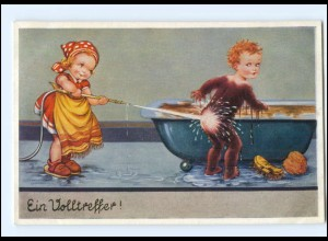 Y17047/ Kinder Moorbad Humor AK 1950