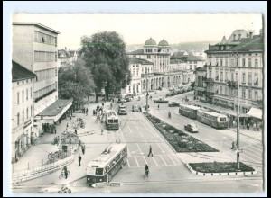 Y17030/ Winterthur Bahnhofsplatz Omnibusse Elektrobus 1960 AK