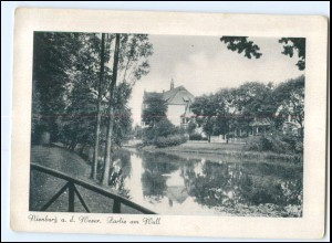 Y16916/ Nienburg Partie am Wall 1944 AK