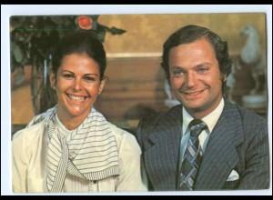 Y16982/ Königs Carl XVI Gustav und Silvia Sommerlath Schweden AK 1976