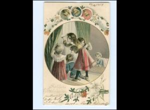 Y17121/ Weihnachten Kinder 1903 Litho AK