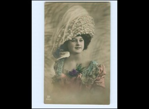 V623/ Hutmode junge Frau schöne Foto AK 1910