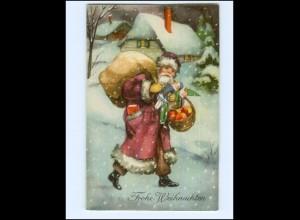 V604/ Weihnachten Weihnachtsmann schöne AK Verlag: HWB ca.1930