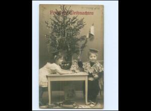 Y17186/ Weihnachten Kinder mit Spielzeug Puppe NPG Foto AK 1908