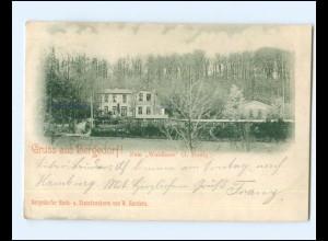 V630/ Hamburg Gruß aus Bergedorf Zum Waldhaus AK 1900