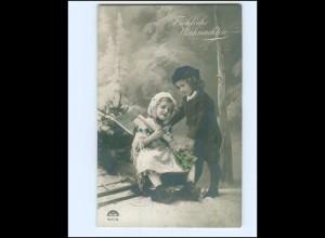 Y17130/ Weihnachten Kinder 1912 Foto AK