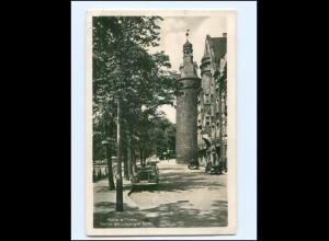 Y17143/ Halle Partie am Leipziger Turm 1940 Foto AK
