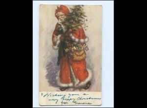Y17320/ Weihnachtsmann Tuck`s Postkarte Christmas Weihnachtsmann AK ca.1910