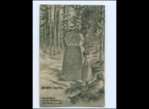 V595-066/ Bad Kösen Deutscher Jugendtag Bismarckfeier a.d. Rudelsburg 1921 AK
