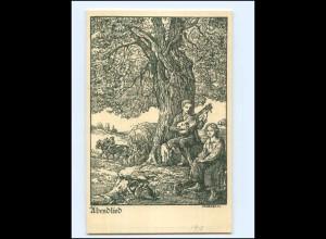 """Y17237/ Für die deutsche Jugend """"Abendlieb"""" sign: Michaelis 1913 AK"""