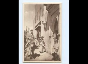 V661/ Casablanca La Rue de Synagogues Synagoge AK Marokko ca.1930