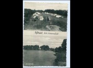 Y17164/ Wehdel b. Schiffdorf AK Campingplatz am Silbersee 1963