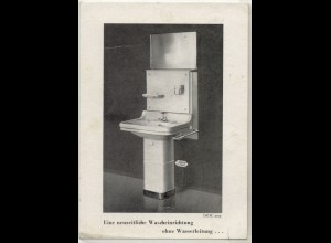 z5449/ Waschkommode ohne Wasserleitung Werbe AK 1949