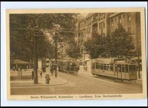 XX10425/ Berlin Wilmersdorf Kaiserallee Ecke Berlinerstr. Straßenbahn AK 1927