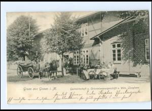 XX10438-193/ Gruß aus Greven i. Meckl. Gastwirtschaft W. Langhans AK 1906