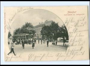 XX10445-394/ Stassfurt Luisenplatz Straßenbahn AK 1902
