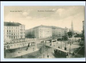 XX10466/ Berlin Friedrichshain Hochbahn Oranienstr. Straßenbahn AK ca.1910