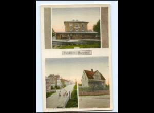 XX10474-8759/ Hösbach Bahnhof Schule AK ca.1920