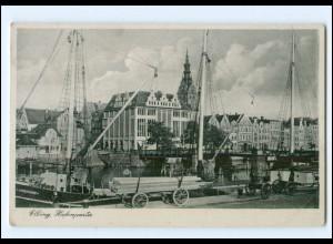 XX10597/ Ostpreußen Elbing Hafenpartie 1941 AK