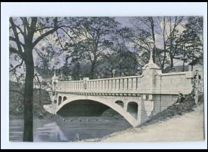 XX10935/ Treptow a. R. Trzebiatów Blücherbrücke Pommern AK 1916