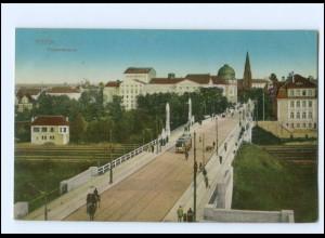 XX10599/ Posen Theaterbrücke Straßenbahn 1915 AK
