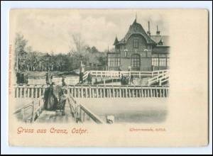 XX10959/ Gruß aus Cranz Ostpreußen Uferpromenade AK ca.1905