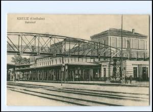 XX11002/ Kreuz Krzyz (Ostbahn) Bahnhof AK 1917