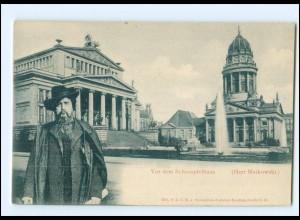 XX11010/ Berlin Herr Matkowski vor dem Schauspielhaus Ak ca.1900