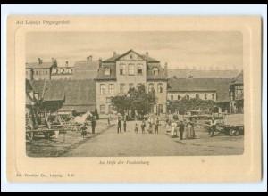 XX10966/ Aus Leipzigs Vergangenheit Im Hofe der Funkenburg AK ca.1900