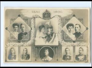 XX11064/ Kaiser Wilhelm und Kaiserin 1881 -1906 mit Familie Foto AK