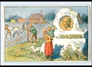 XX10927/ v. Hindenburg Kriegs-Wohlfahrtskarte Litho AK ca.1915