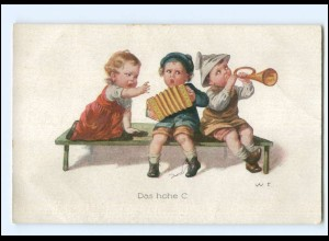 XX10930/ Kinder musizieren Akkordeon AK ca.1920