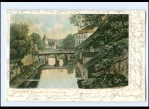 XX10499/ Osnabrück Hasepartie mit Pernickelturm 1901 AK