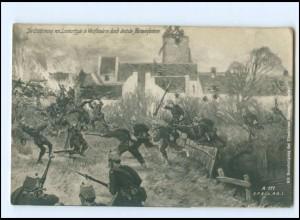 XX11011/ Erstürmung von Lomartzyde Westflandern Belgien 1. Weltkrieg AK 1915