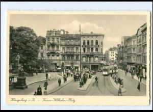 XX10594/ Ostpreußen Königsberg Kaiser-Wilhelm-Platz Straßenbahn Foto AK