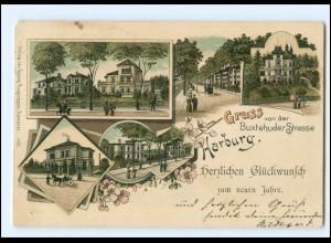 XX10512/ Hamburg Gruß aus Harburg 1899 Litho AK
