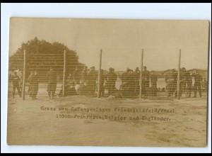 XX10885/ Kriegsgefangenenlager Friedrichsfeld Wesel Foto AK 1. Weltkrieg
