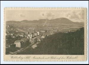 XX10589/ Schlesien Waldenburg Auenstraße Blick auf den Hochwald AK