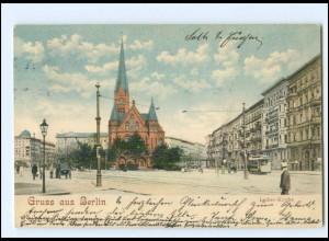 XX10548/ Berlin Luther-Kirche Straßenbahn 1906 AK