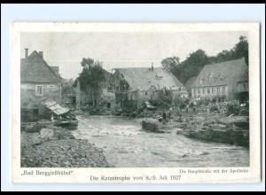 XX11059/ Bad Berggießhübel Katastrophe 8./9 Juli 1927 AK Hauptstr. mit Apotheke