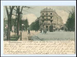 XX10555/ Berlin Charlottenburg Berlinerstraße Straßenbahn 1904 AK