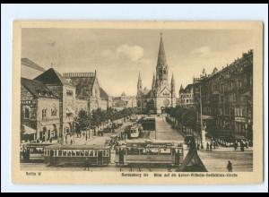 XX10553/ Berlin Hardenbergstr. Kaiser-Wilhelm-Gedächtnis-Kirche Straßenbahn AK