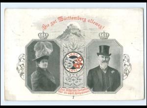XX11069/ Privatganzsache Silberne Hochzeit des württt. Königspaares AK PP27C126