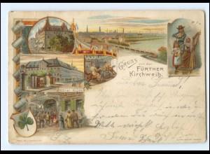 XX11068/ Privatganzsache PP15 Fürther Kirchweih Litho AK 1899