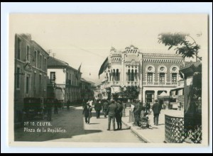 XX11056/ Ceuta Plaza de la Republica Foto AK Spanien Afrika ca.1938