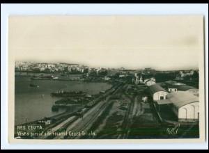 XX11057/ Ceuta Ferrocarril Ceuta-Tetuan Foto AK Spanien Afrika ca.1938